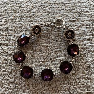 Jewelry - Large crystal amethyst color bracelet